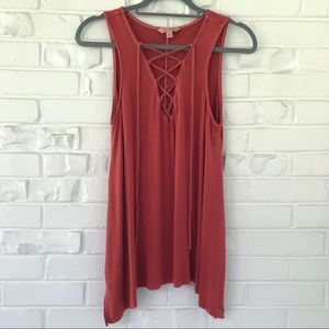 American Eagle Soft&Sexy Lace-Up Tank Top Size S